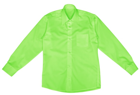 Green shirt with long sleeves