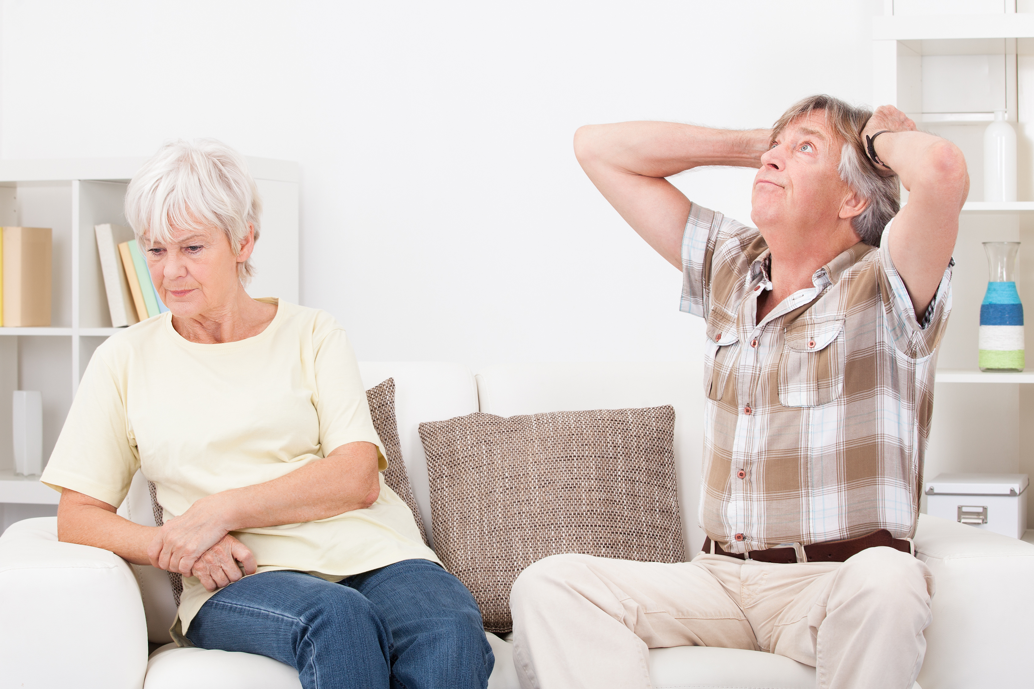 Senior Couple Quarrelling